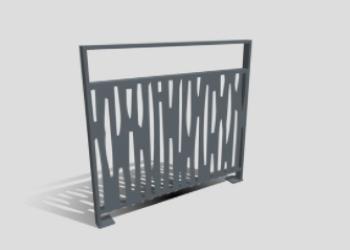 Garde-corps motif Bilmerade structure MONOLYSS