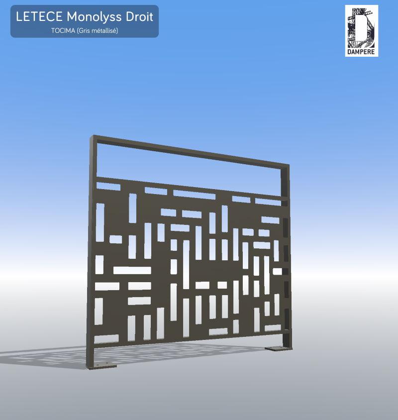 Garde-corps LETECE modele Monolyss Motif Tocima par dampere reality